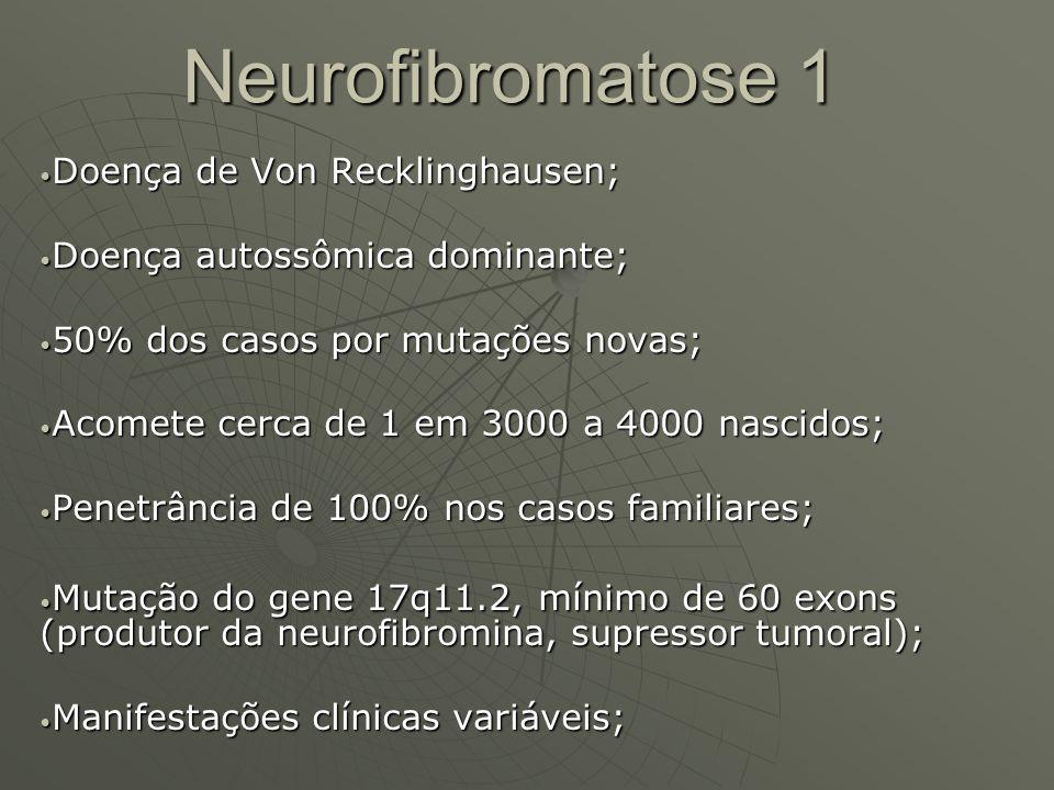 Neurofibromatose 1 Doença de Von Recklinghausen;