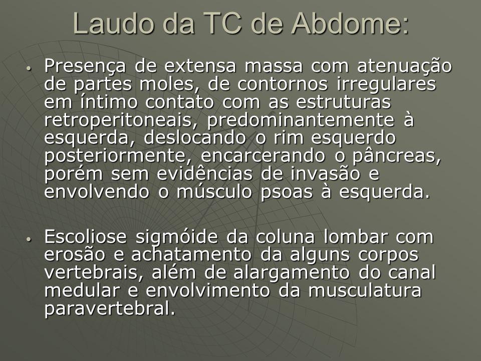 Laudo da TC de Abdome: