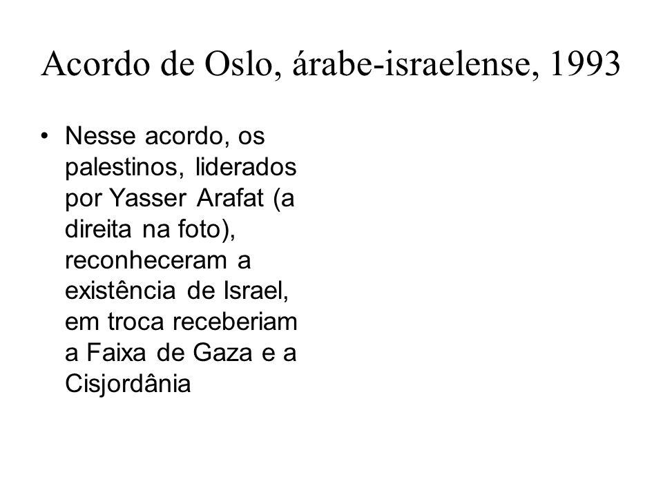 Acordo de Oslo, árabe-israelense, 1993