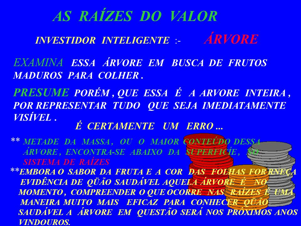 AS RAÍZES DO VALOR INVESTIDOR INTELIGENTE :- ÁRVORE
