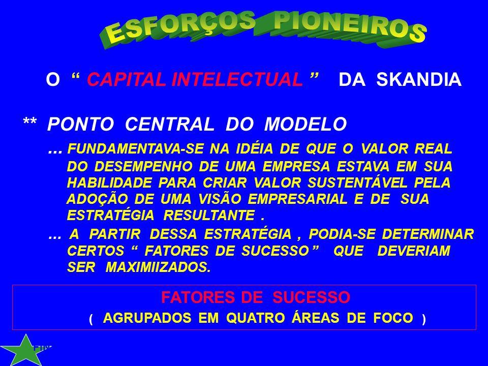 ESFORÇOS PIONEIROS O CAPITAL INTELECTUAL DA SKANDIA