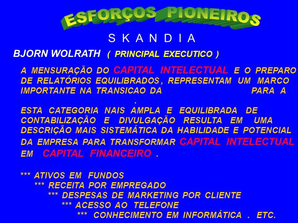 ESFORÇOS PIONEIROS S K A N D I A BJORN WOLRATH ( PRINCIPAL EXECUTICO )