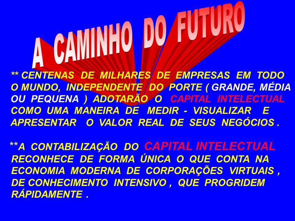 A CAMINHO DO FUTURO **A CONTABILIZAÇÃO DO CAPITAL INTELECTUAL