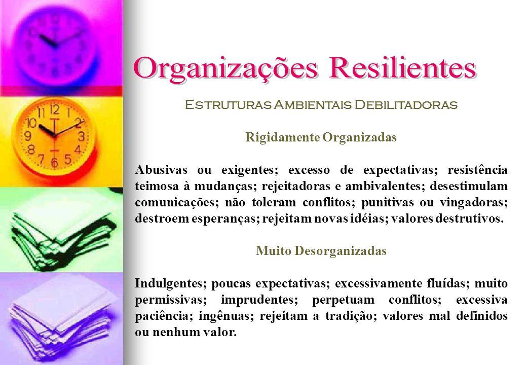 Estruturas Ambientais Debilitadoras Rigidamente Organizadas