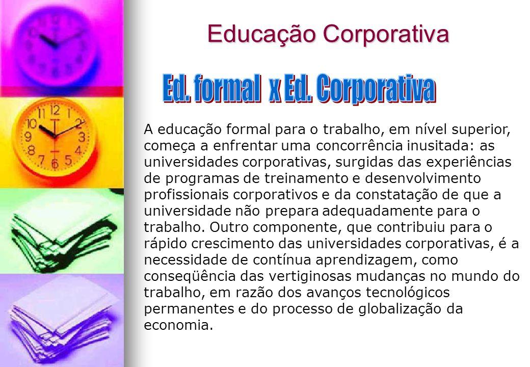 Ed. formal x Ed. Corporativa