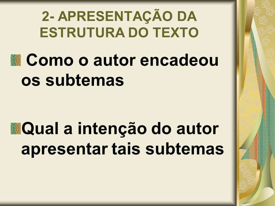 2- APRESENTAÇÃO DA ESTRUTURA DO TEXTO