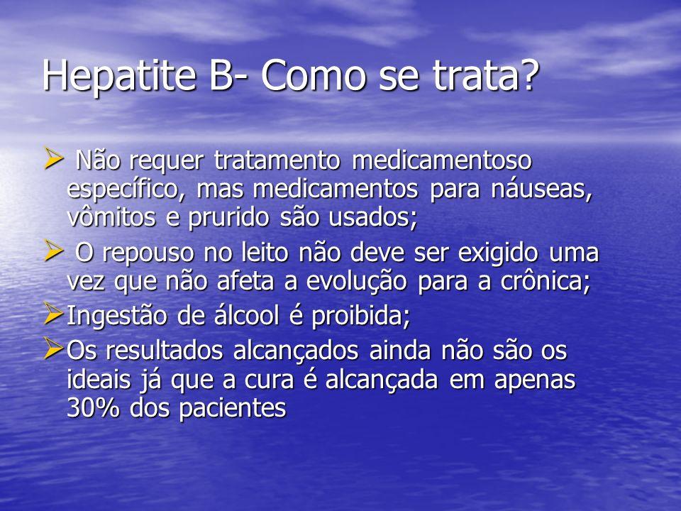 Hepatite B- Como se trata