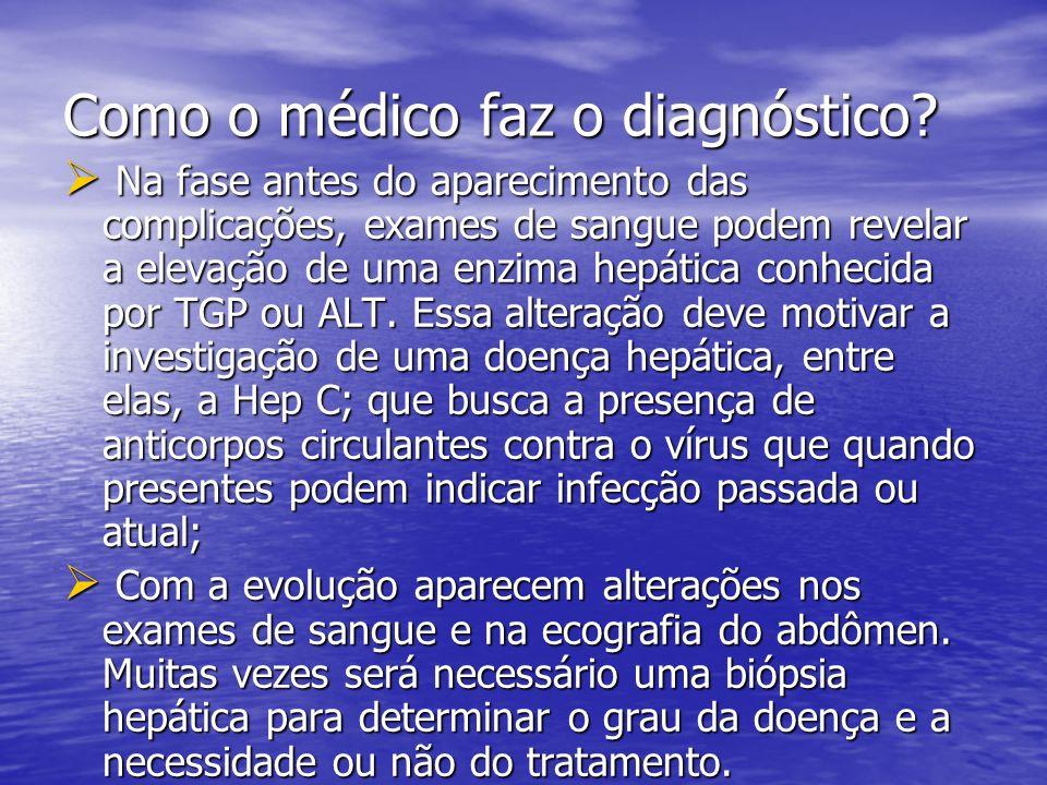 Como o médico faz o diagnóstico