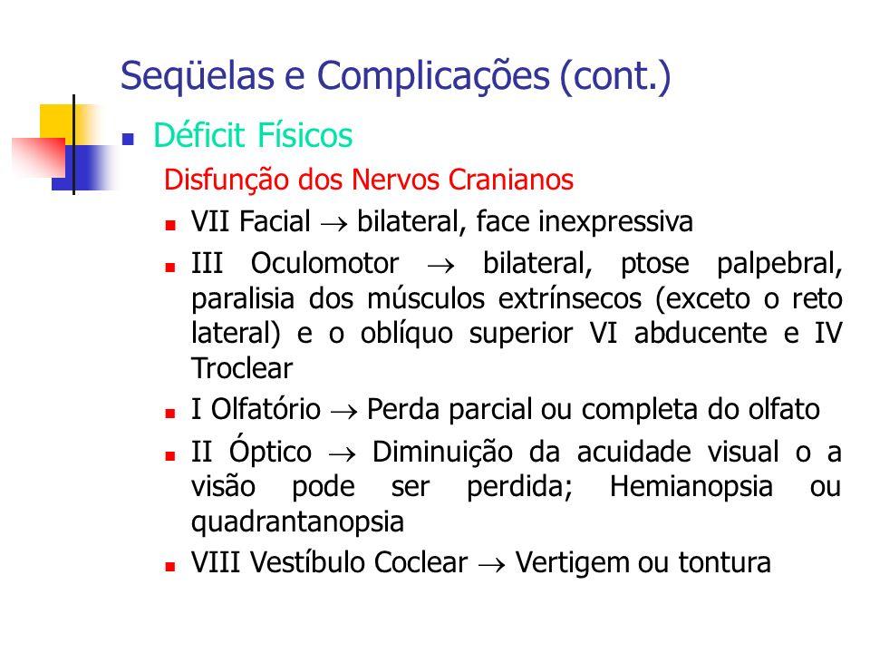 Seqüelas e Complicações (cont.)