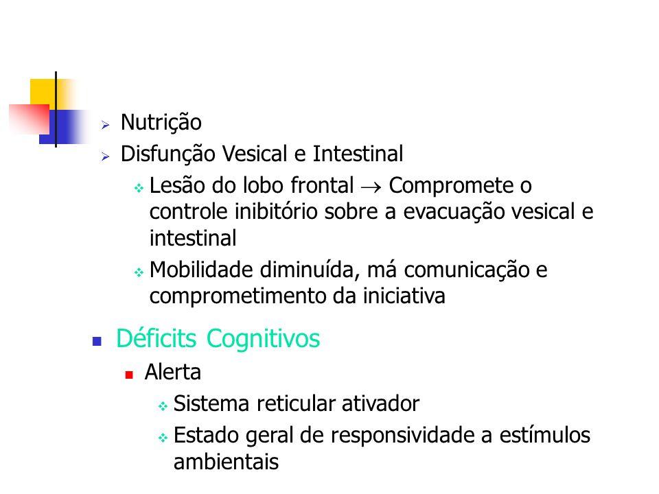 Déficits Cognitivos Nutrição Disfunção Vesical e Intestinal