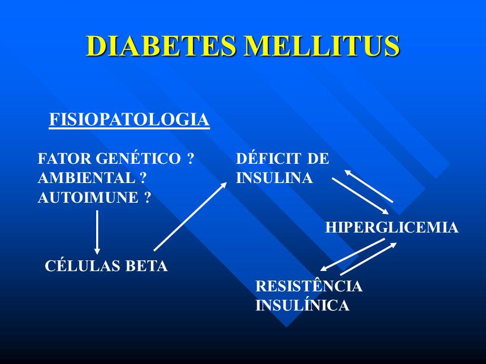 DIABETES MELLITUS FISIOPATOLOGIA FATOR GENÉTICO AMBIENTAL