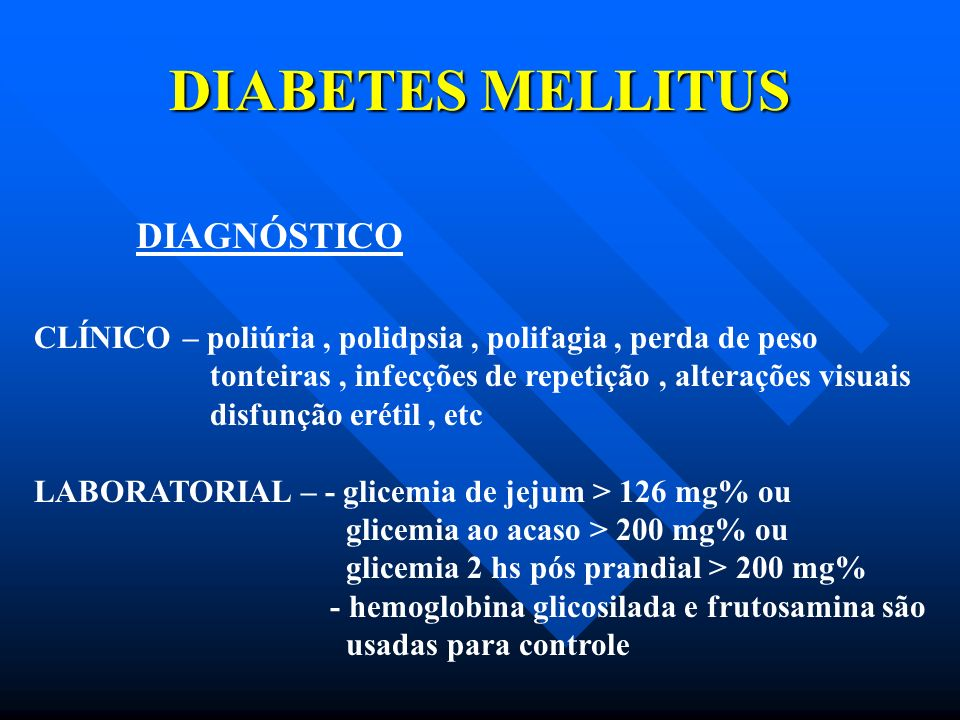 DIABETES MELLITUS DIAGNÓSTICO
