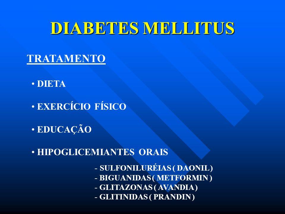 DIABETES MELLITUS TRATAMENTO DIETA EXERCÍCIO FÍSICO EDUCAÇÃO