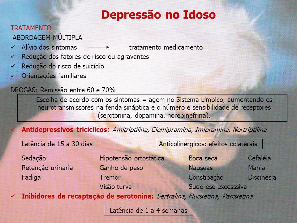 Depressão no Idoso TRATAMENTO ABORDAGEM MÚLTIPLA