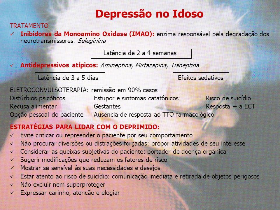 Depressão no Idoso TRATAMENTO