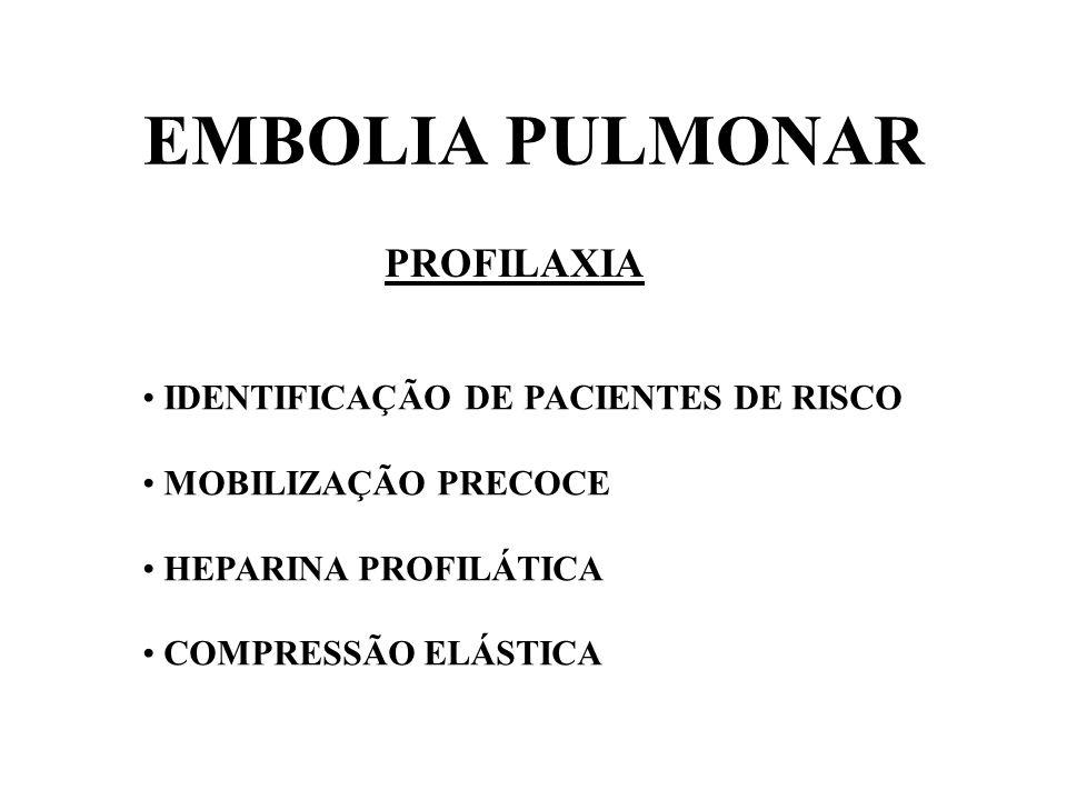 EMBOLIA PULMONAR PROFILAXIA IDENTIFICAÇÃO DE PACIENTES DE RISCO