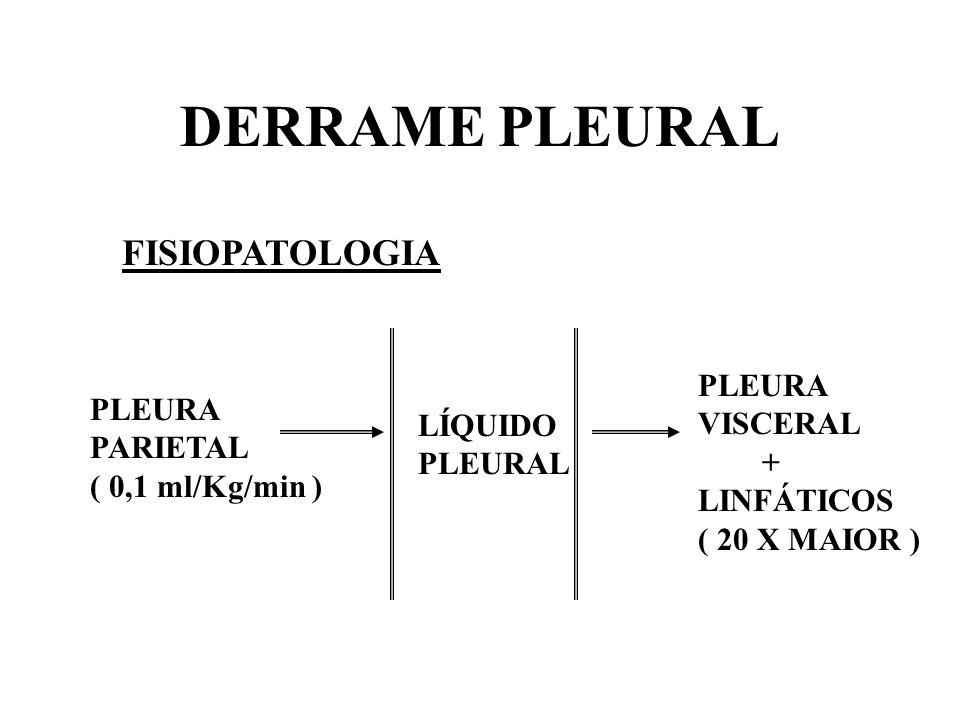 DERRAME PLEURAL FISIOPATOLOGIA PLEURA VISCERAL PLEURA PARIETAL LÍQUIDO