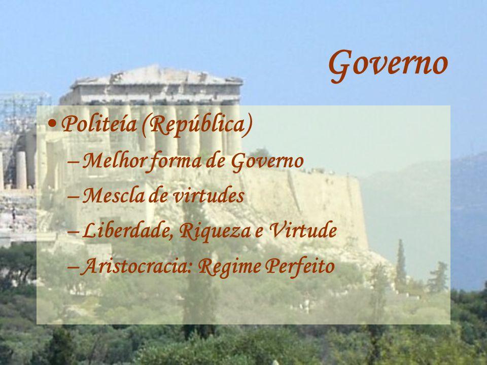 Governo Politeía (República) Melhor forma de Governo