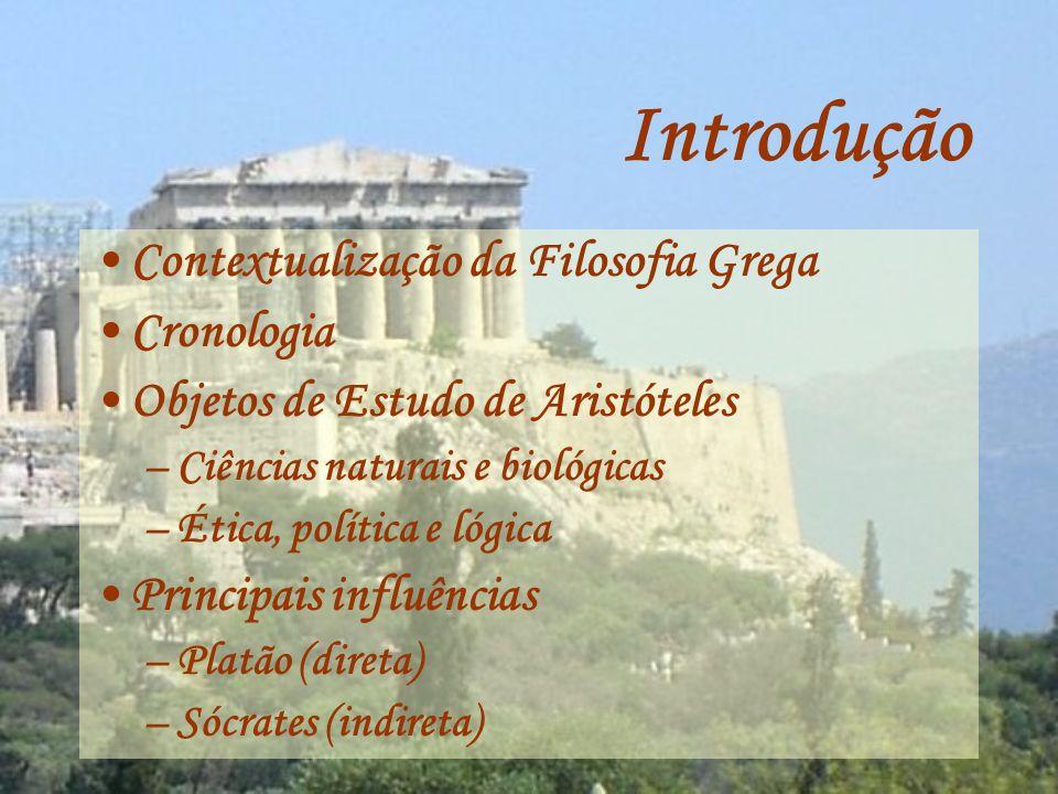 Introdução Contextualização da Filosofia Grega Cronologia