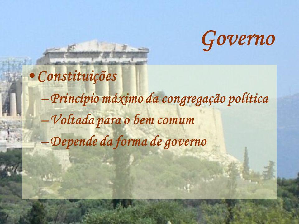 Governo Constituições Princípio máximo da congregação política