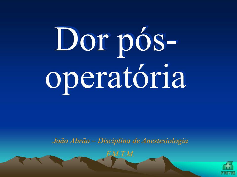 João Abrão – Disciplina de Anestesiologia