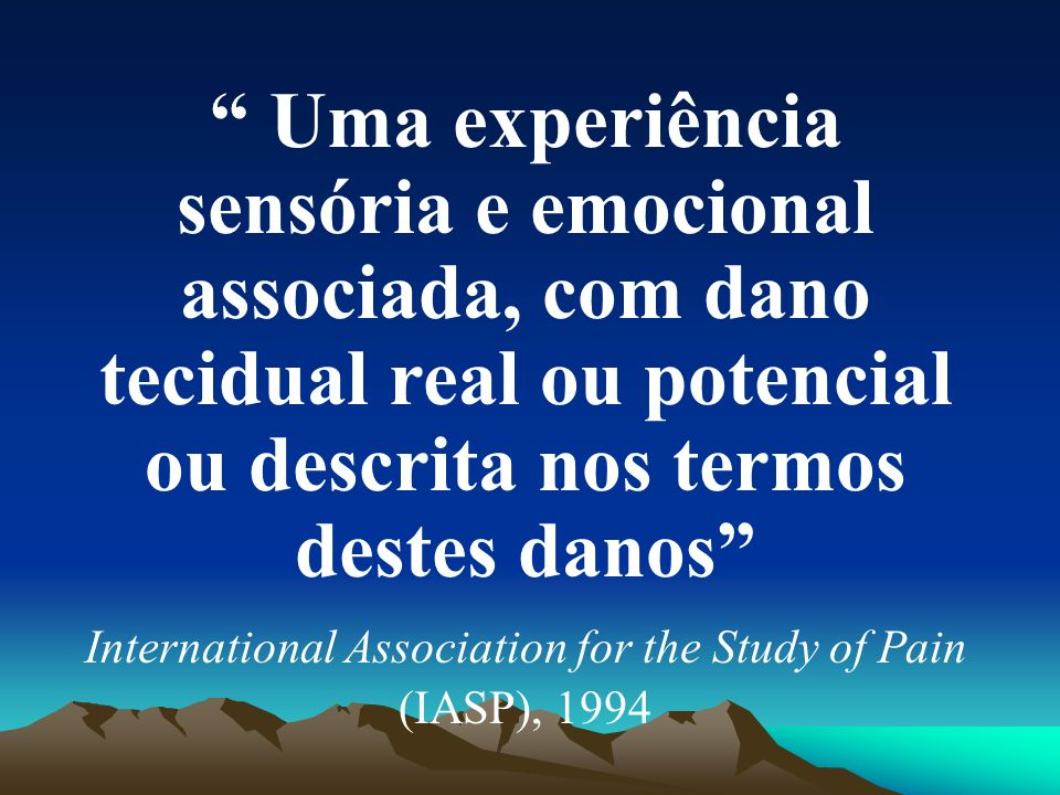 International Association for the Study of Pain (IASP), 1994