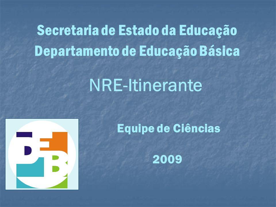 Secretaria de Estado da Educação Departamento de Educação Básica