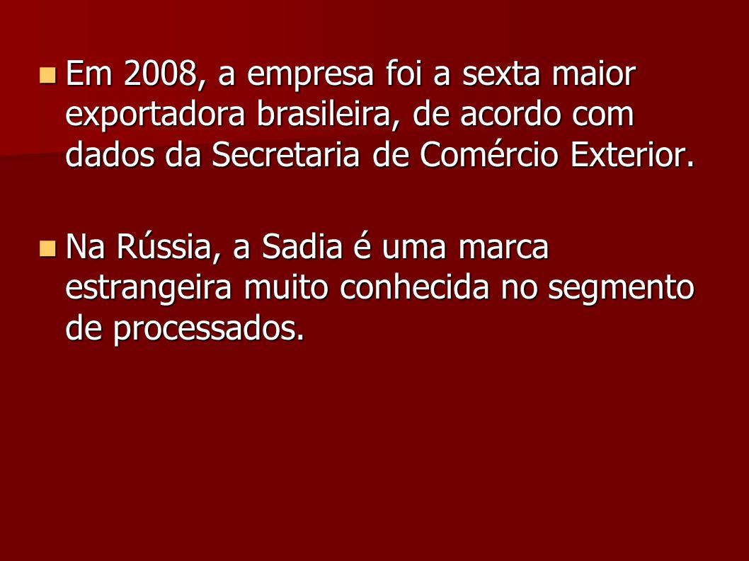 Em 2008, a empresa foi a sexta maior exportadora brasileira, de acordo com dados da Secretaria de Comércio Exterior.