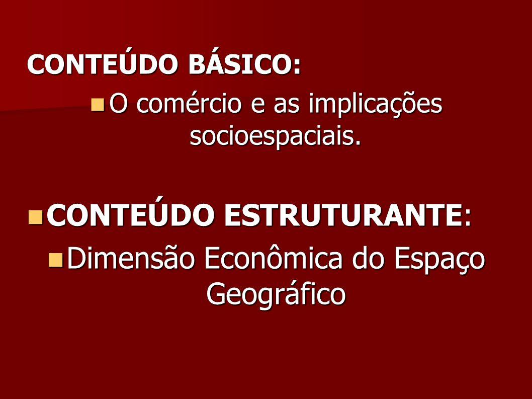 CONTEÚDO ESTRUTURANTE: Dimensão Econômica do Espaço Geográfico