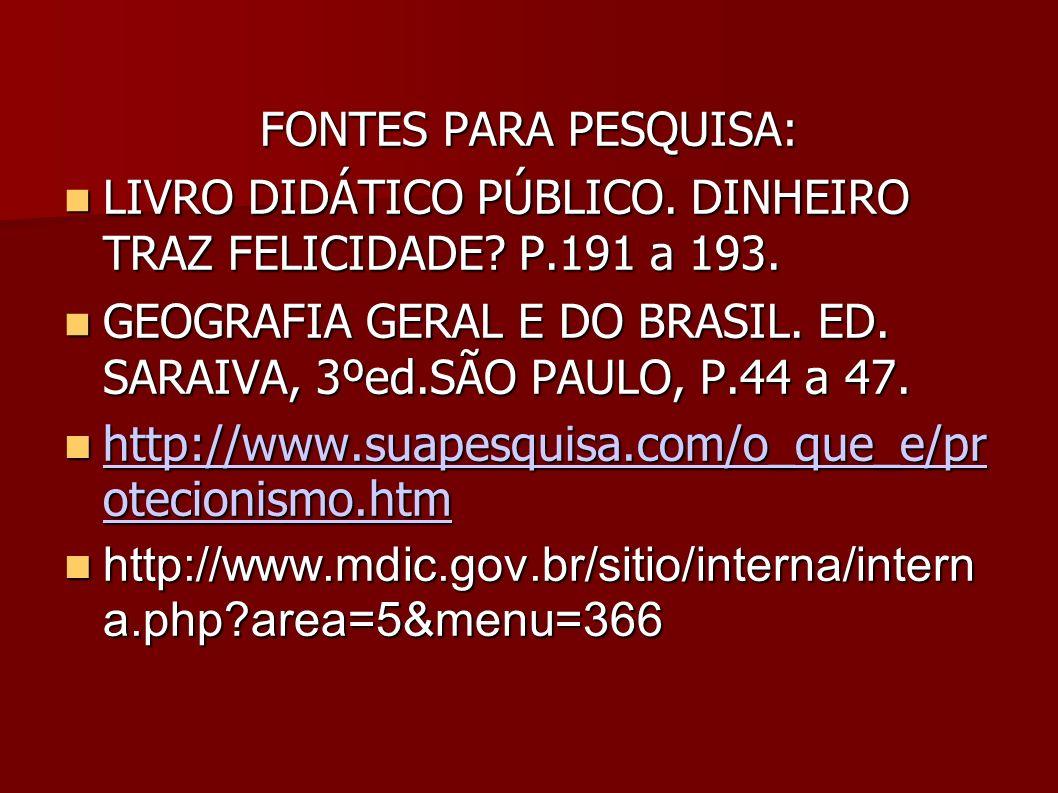 http://www.suapesquisa.com/o_que_e/pr otecionismo.htm
