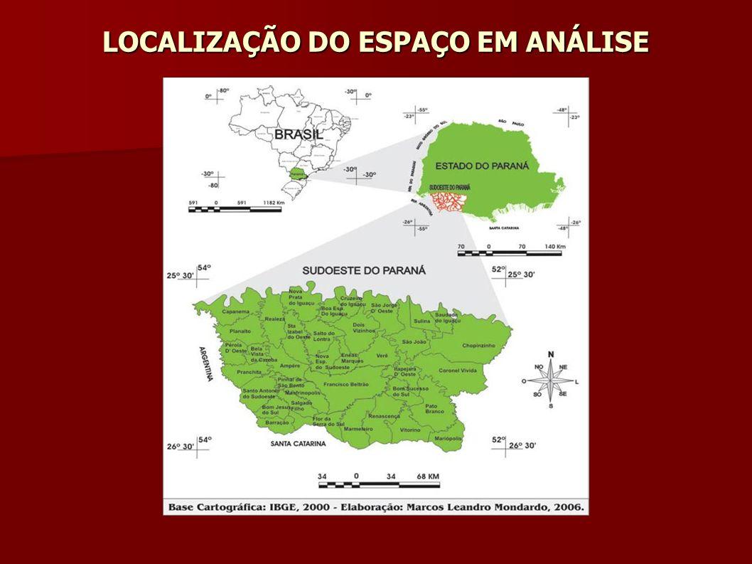LOCALIZAÇÃO DO ESPAÇO EM ANÁLISE