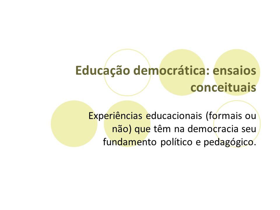 Educação democrática: ensaios conceituais