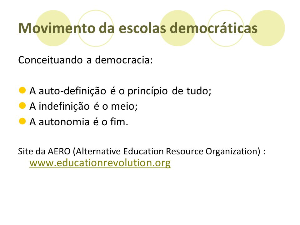 Movimento da escolas democráticas