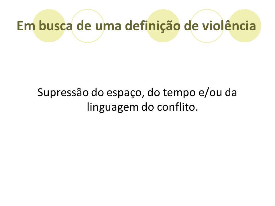 Em busca de uma definição de violência