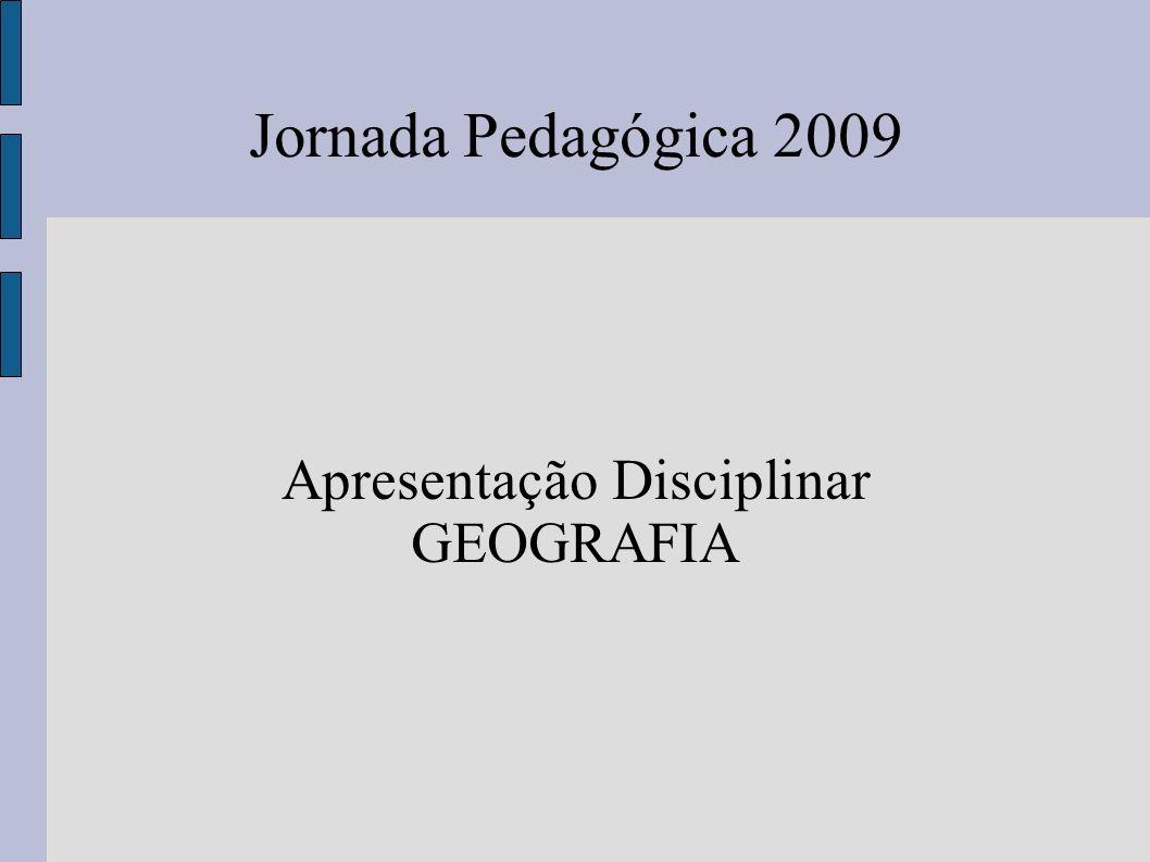 Apresentação Disciplinar GEOGRAFIA