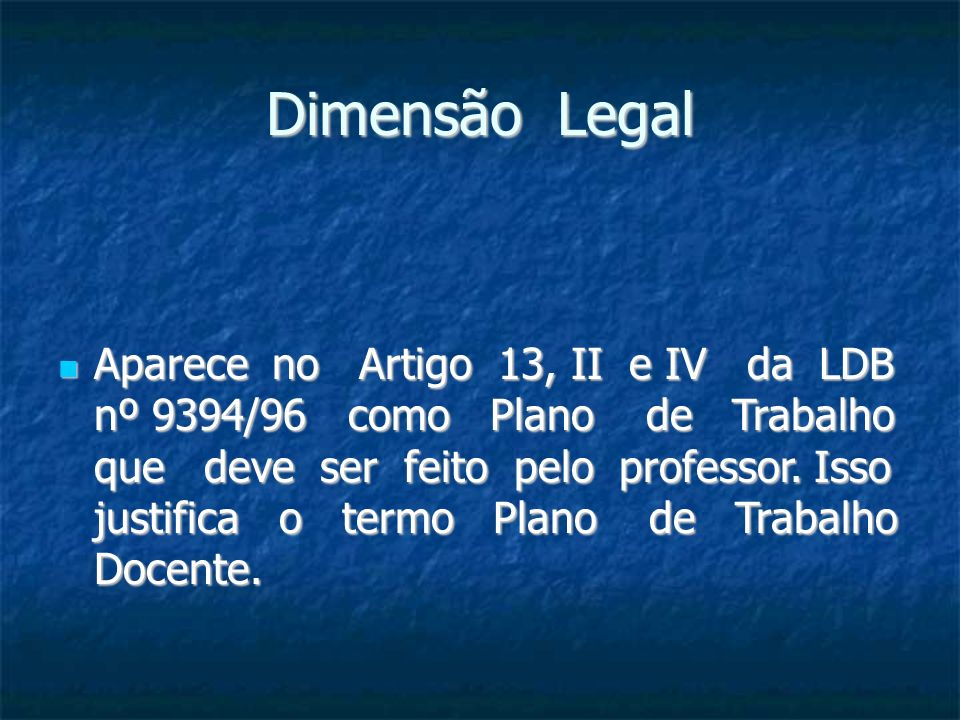 Dimensão Legal