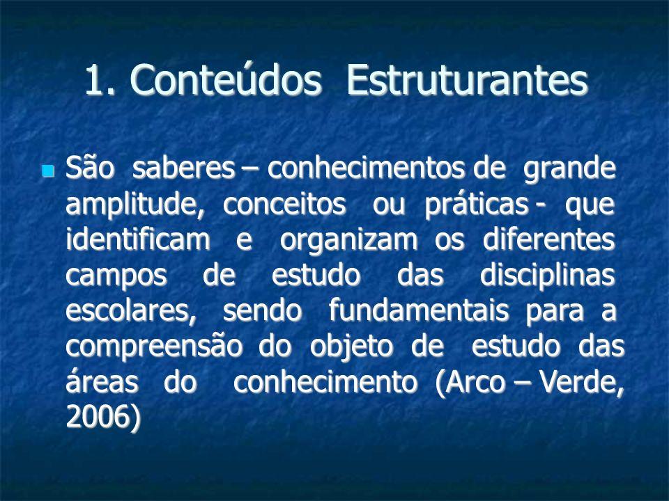 1. Conteúdos Estruturantes