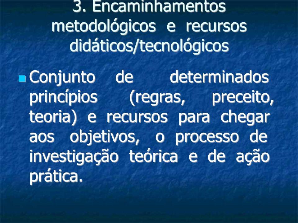 3. Encaminhamentos metodológicos e recursos didáticos/tecnológicos