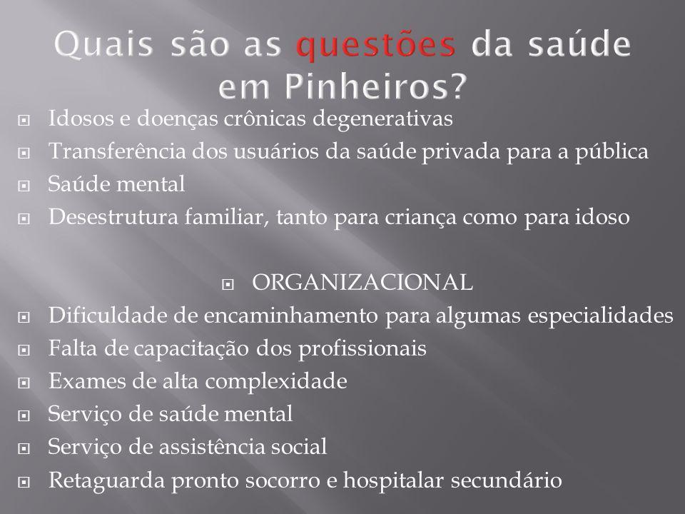 Quais são as questões da saúde em Pinheiros