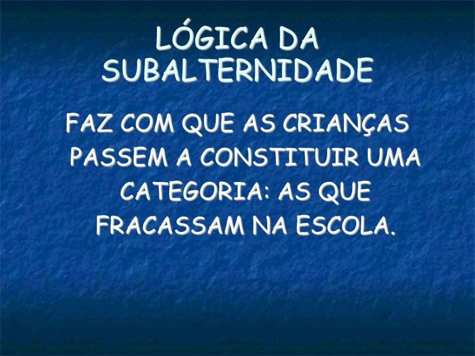 LÓGICA DA SUBALTERNIDADE