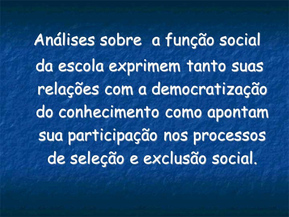 Análises sobre a função social