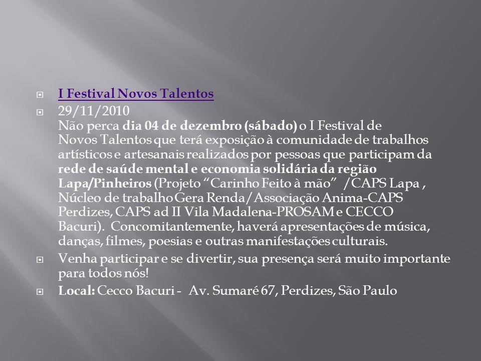 I Festival Novos Talentos