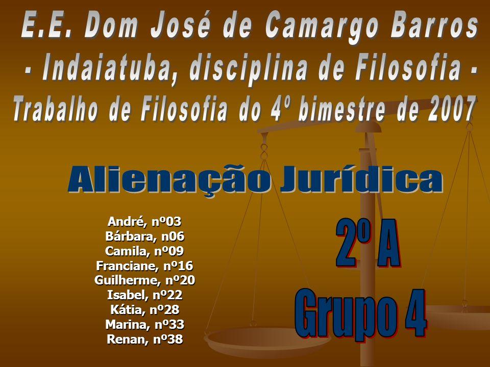 Alienação Jurídica E.E. Dom José de Camargo Barros