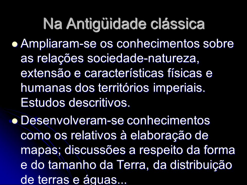Na Antigüidade clássica