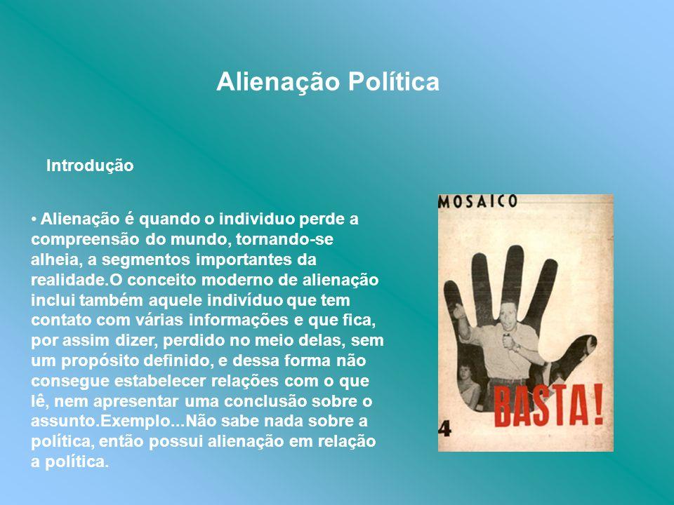Alienação Política Introdução