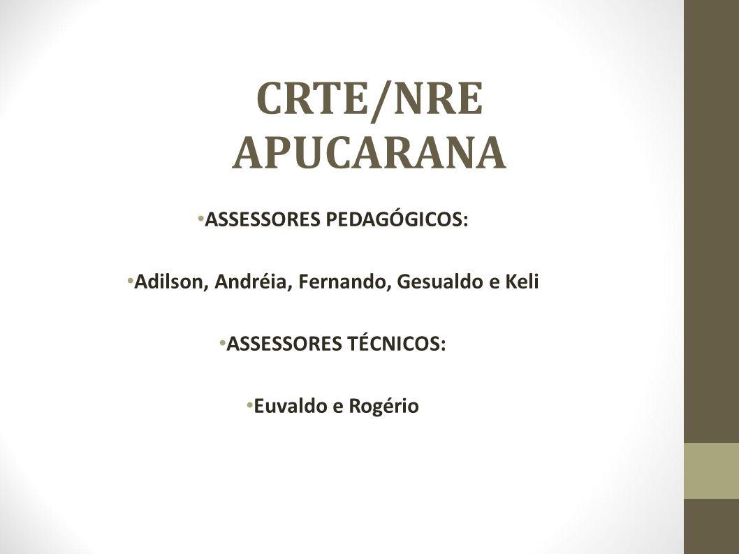 ASSESSORES PEDAGÓGICOS: Adilson, Andréia, Fernando, Gesualdo e Keli