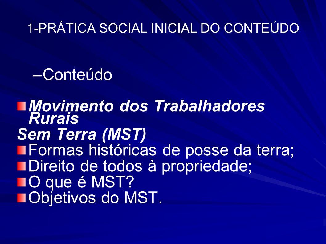 1-PRÁTICA SOCIAL INICIAL DO CONTEÚDO