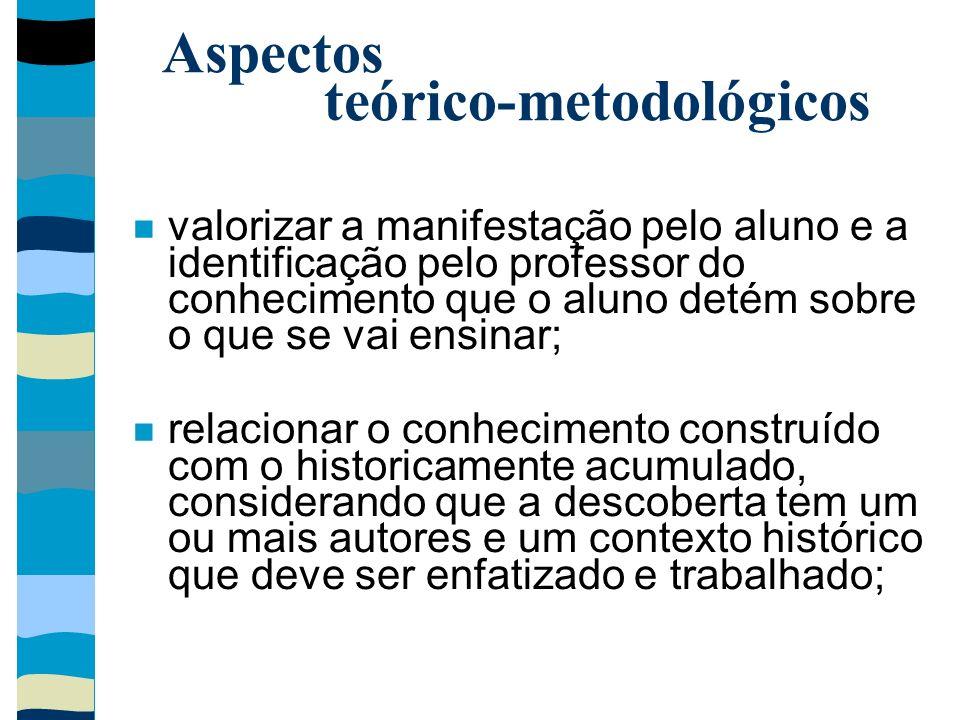 Aspectos teórico-metodológicos
