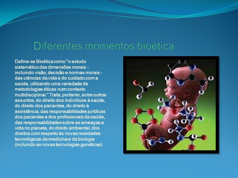 Diferentes momentos bioética