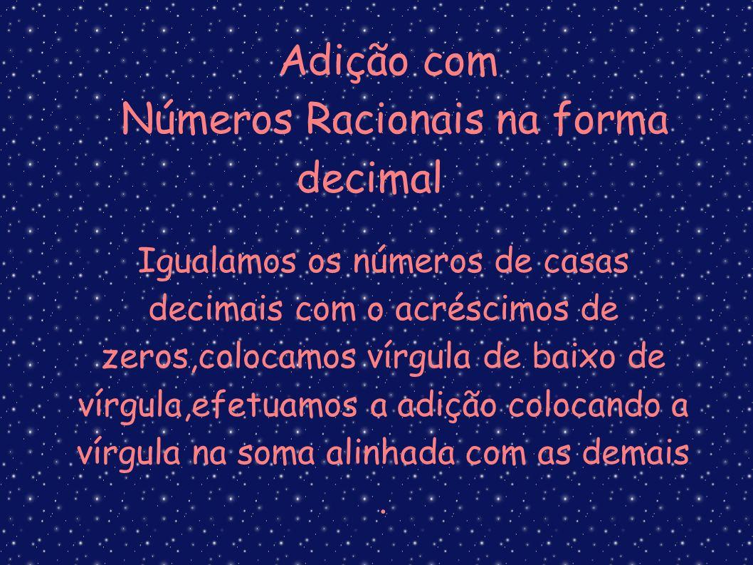 Números Racionais na forma decimal